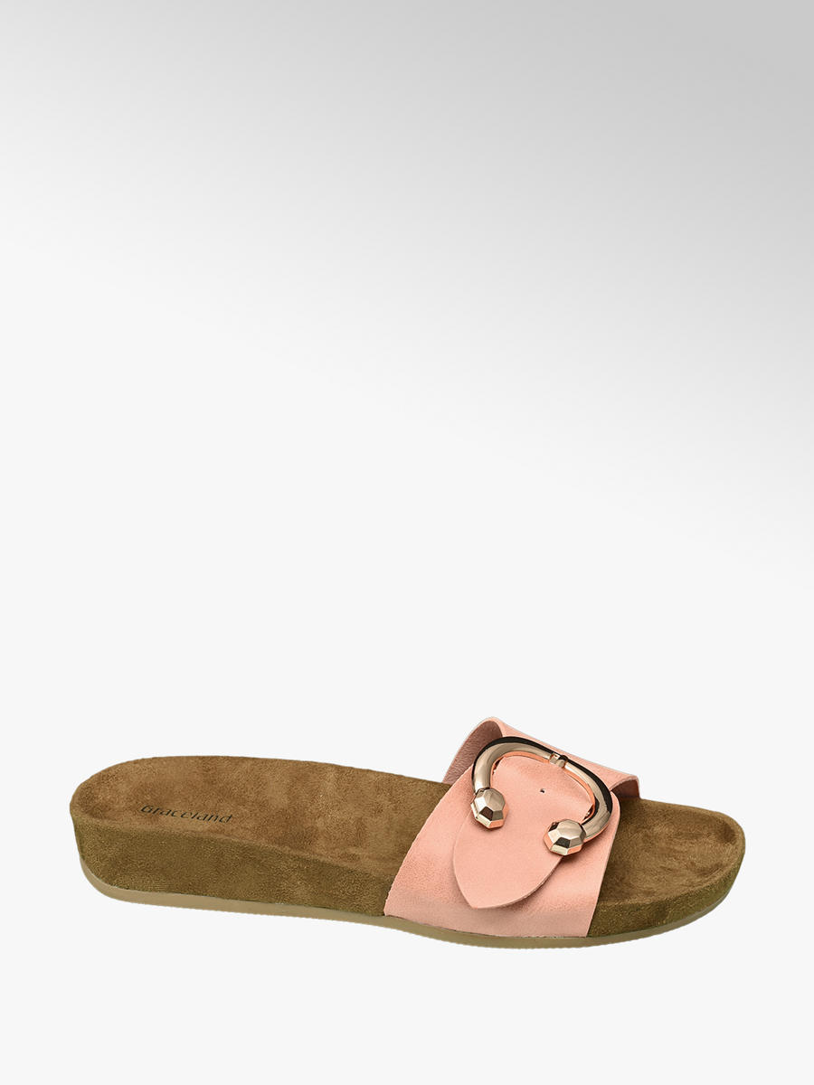 a096830ca3f Graceland Ladies Peach Mule Footbed Sandals