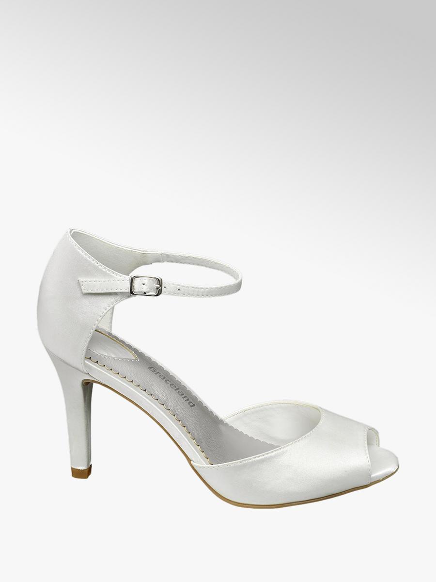 290edac828b9 Graceland Ladies Peep toe Heeled Sandals Ivory
