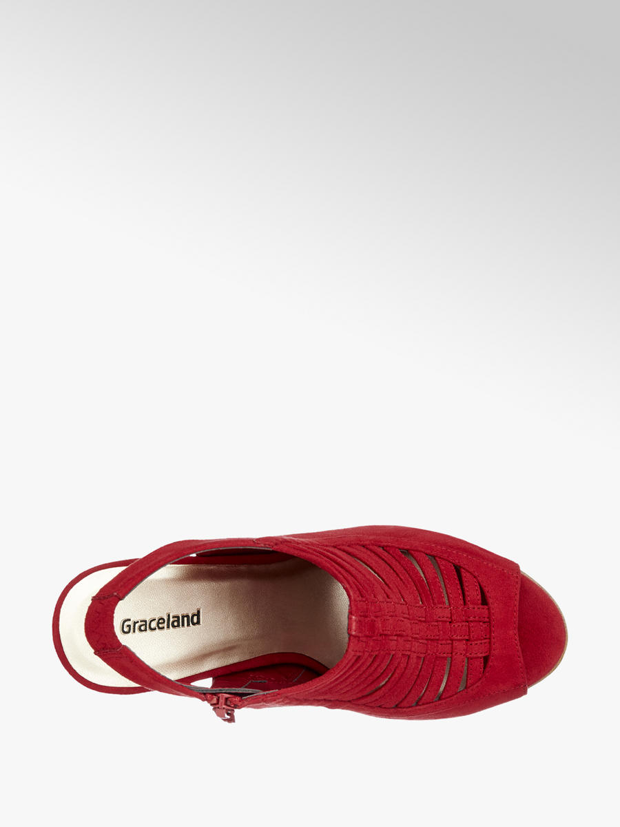 6824f6aad721 Graceland Red Heeled Caged Sandals. 2  2  3. This article has been rated 1  times