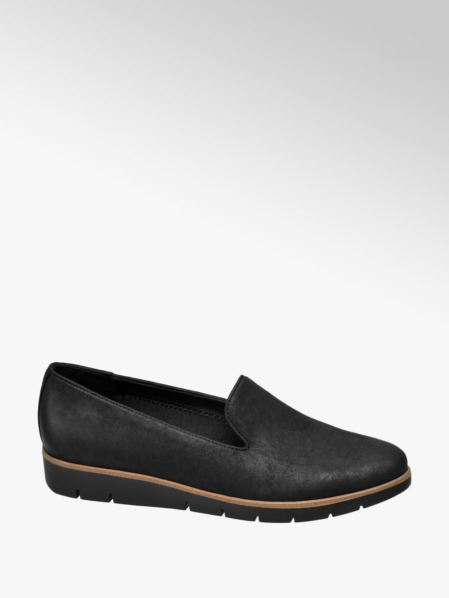 Graceland Ladies' Slip On Loafers Black