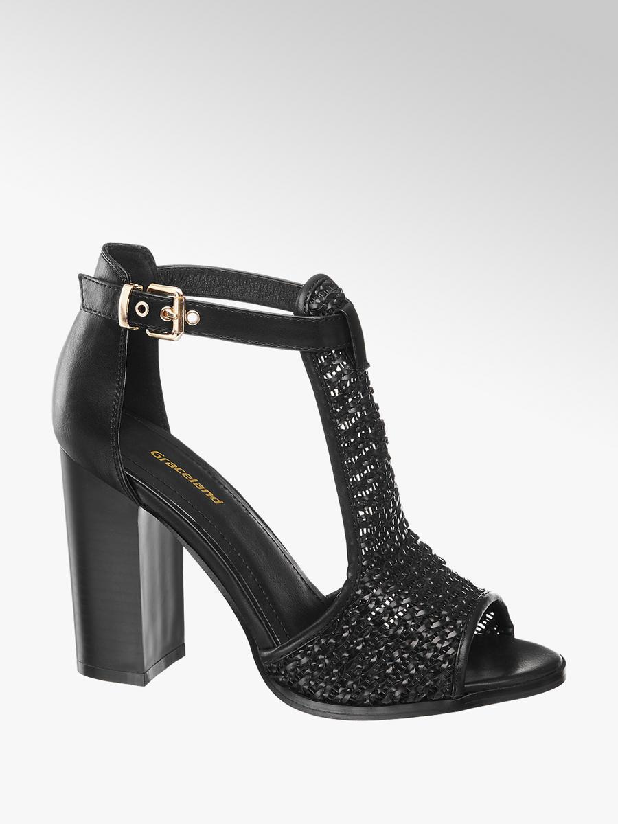 c5d91cd9d8d Graceland Ladies Woven High Heels Black   Deichmann