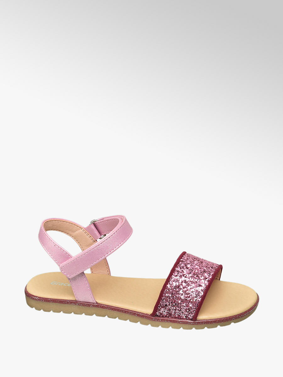Graceland Sandalen in Pink mit Pailletten | DEICHMANN AT