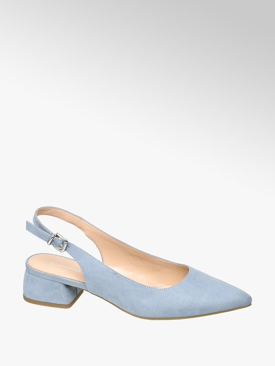 Graceland Slingback Heels Light Blue