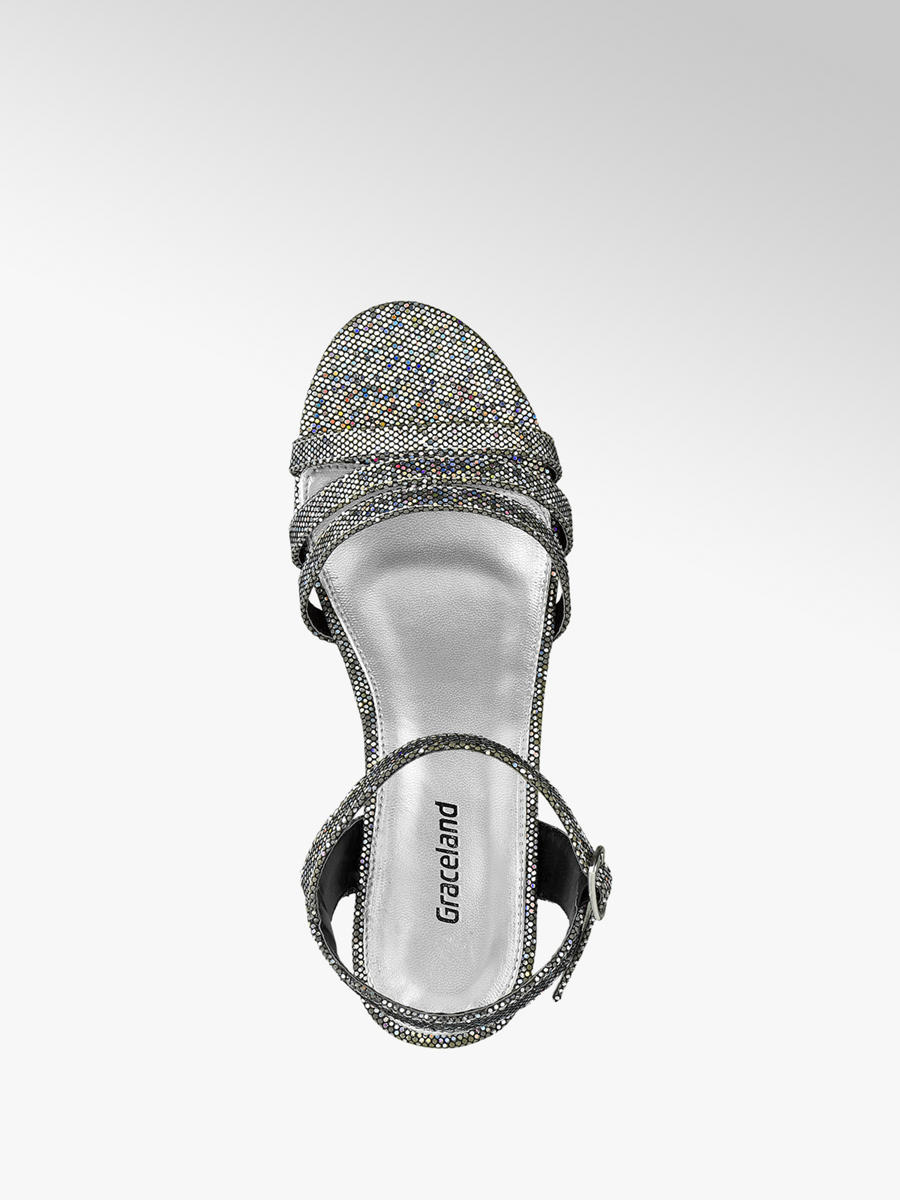bd659661cf8 Graceland Teen Girl Silver Sparkle Party Sandals. 2  2  3. This article has  been rated 1 times