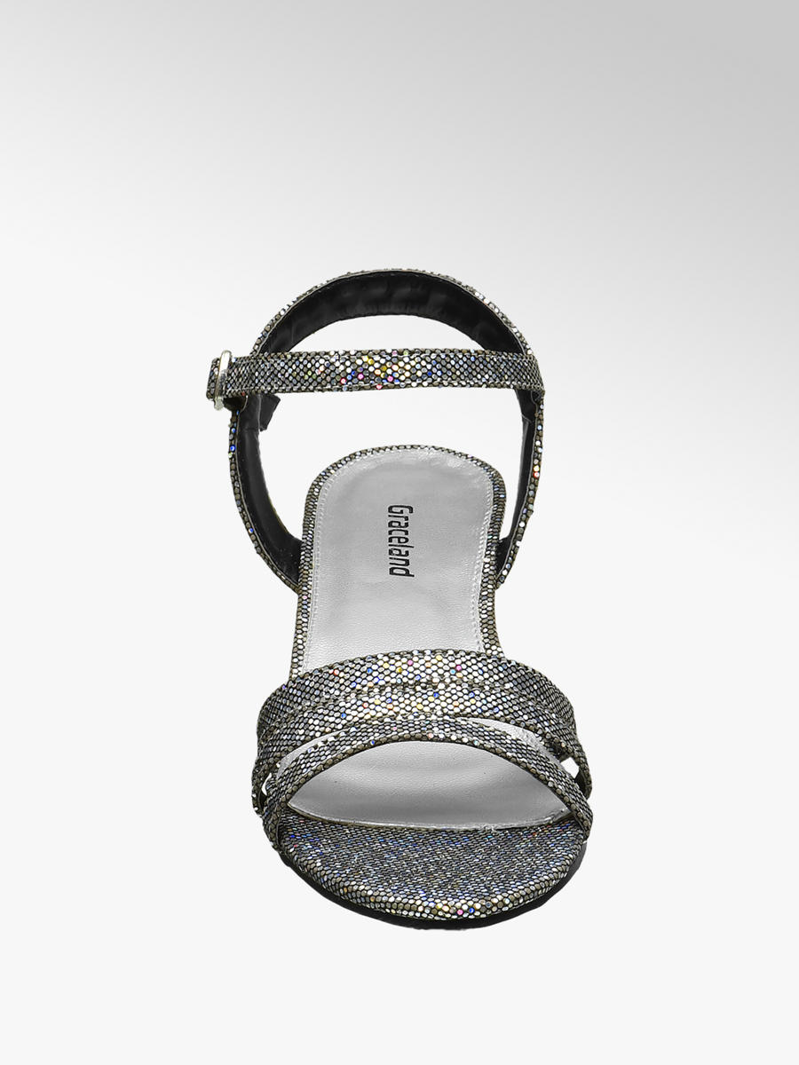 c8d5192fa9e Graceland Teen Girl Silver Sparkle Party Sandals. 2  2  3. This article has  been rated 1 times
