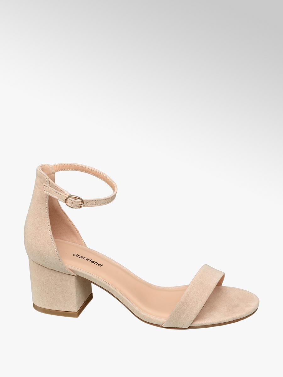 87e86a77e Graceland Teen Girls Nude Block Heel Sandals (Size 4 & 5) | Deichmann