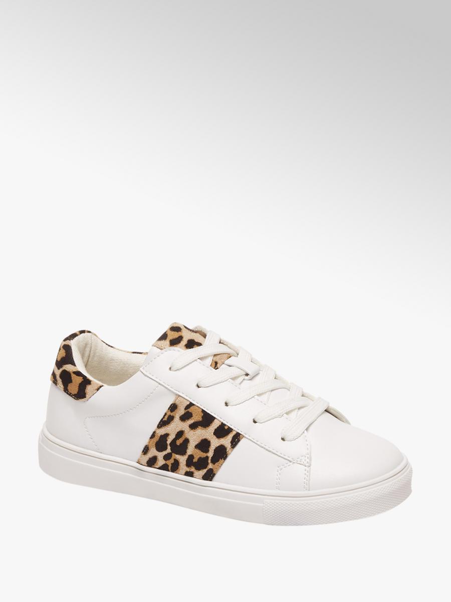 d4bf72dc465 Graceland Witte sneaker leopard - Gratis Bezorgd & Retour   vanHaren  Schoenen