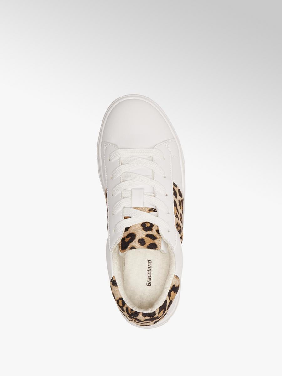af6af3dacfa Graceland Witte sneaker leopard - Gratis Bezorgd & Retour   vanHaren ...