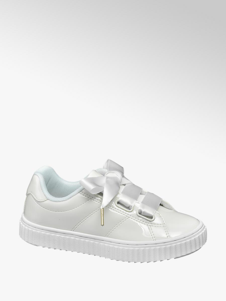 10cefdcb987 Graceland Witte sneaker satijnen veters - Gratis Bezorgd & Retour |  vanHaren Schoenen