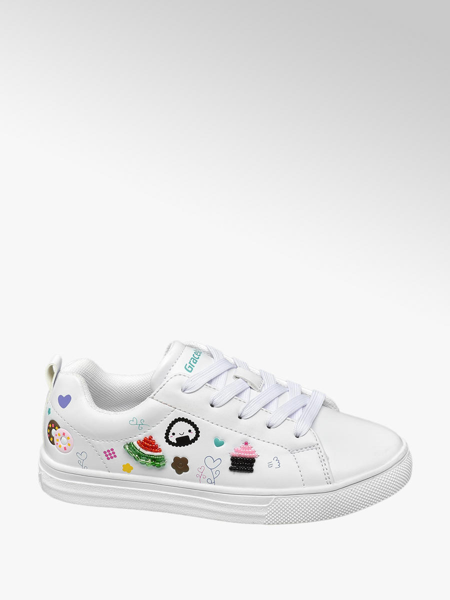 66f02445f67 Graceland Witte sneaker symbolen - Gratis Bezorgd & Retour | vanHaren  Schoenen