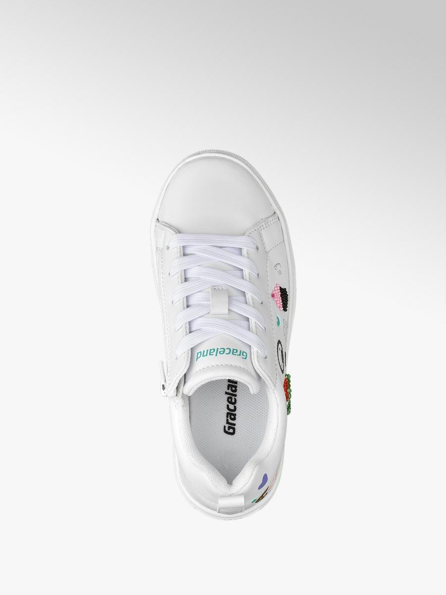 bb64cef693b Graceland Witte sneaker symbolen - Gratis Bezorgd & Retour ...