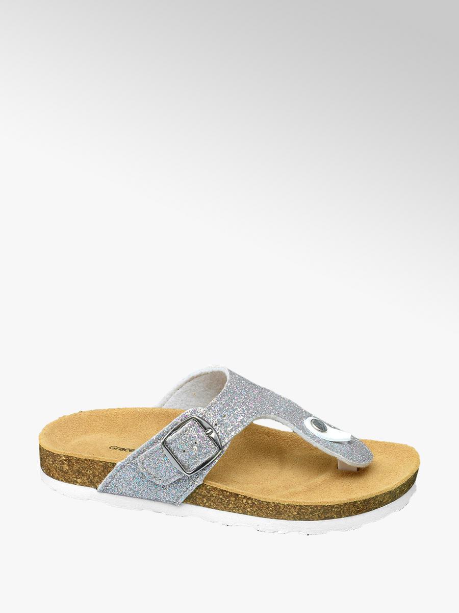 55d450f5f2c Graceland Zilveren slipper glitters - Gratis Bezorgd & Retour | vanHaren  Schoenen