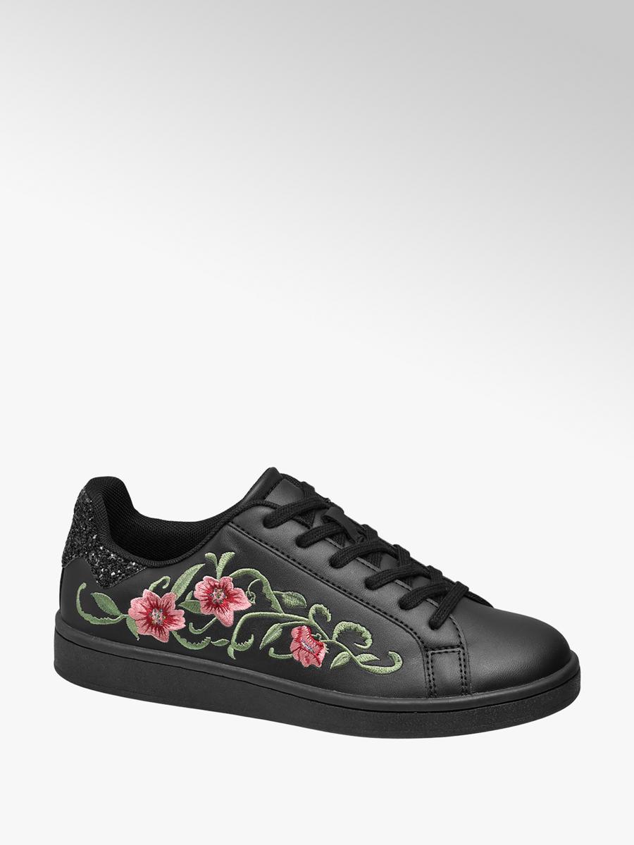 4394ff6d257 Graceland Zwarte sneaker bloemen - Gratis Bezorgd en Retour | vanHaren.nl