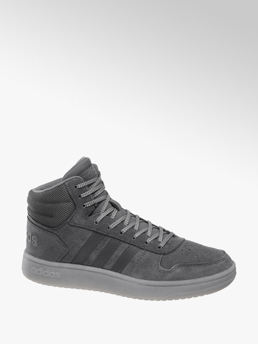 promo code 874a6 48be1 Grijze adidas Hoops 2.0 Mid