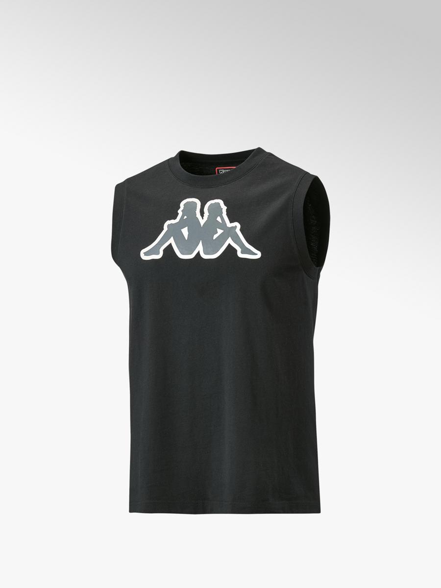 herren training t-shirt in schwarz von kappa günstig im