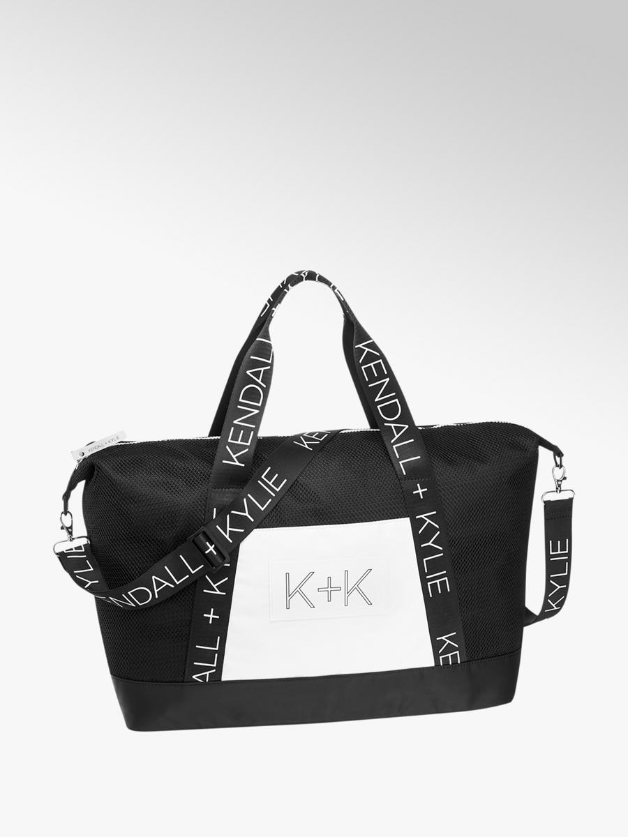 Kendall Kylie Las Overnight Holdall Bag In Black And