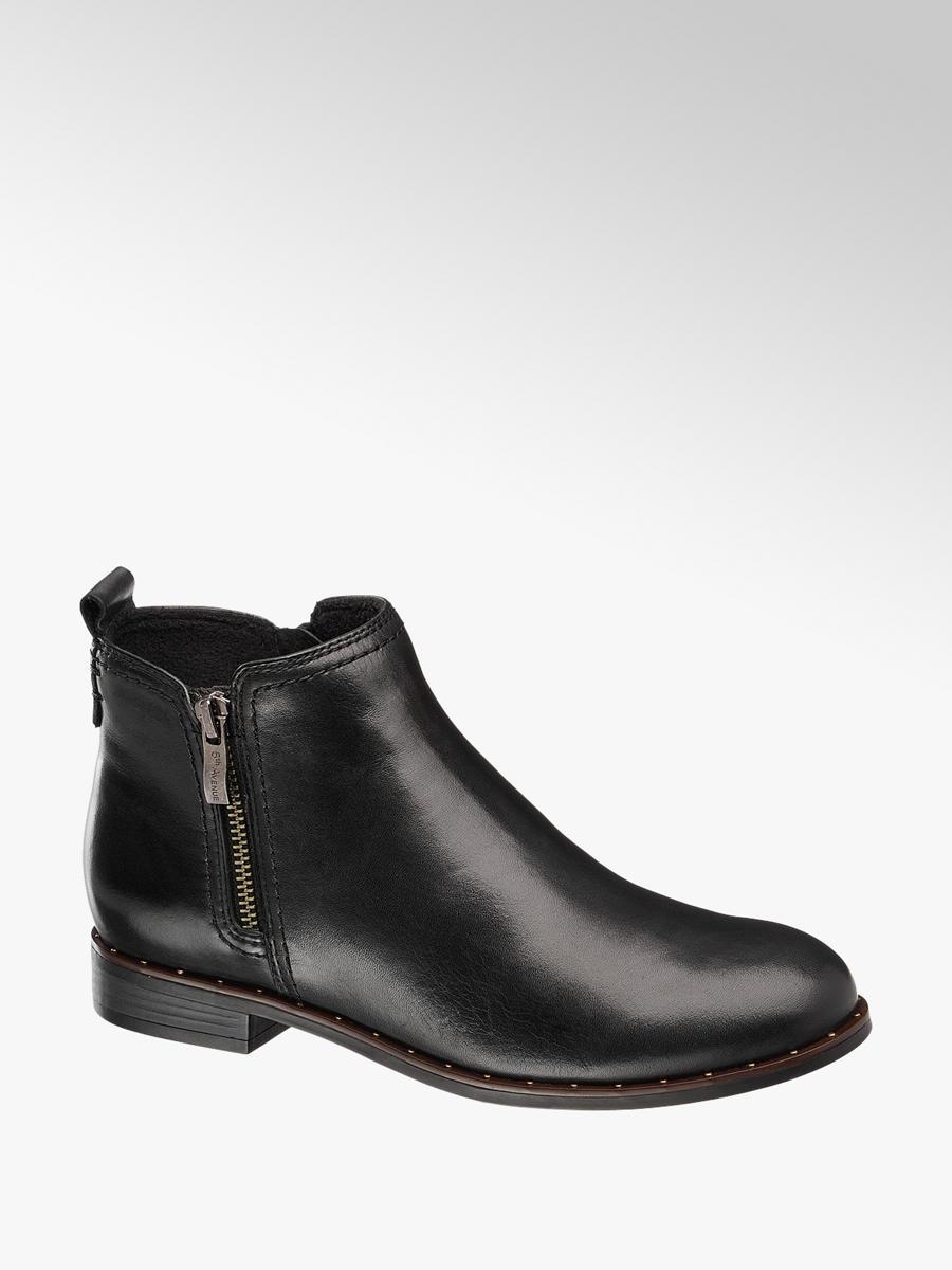 67d340c9c6 Kožená kotníková obuv značky 5th Avenue v barvě černá - deichmann.com
