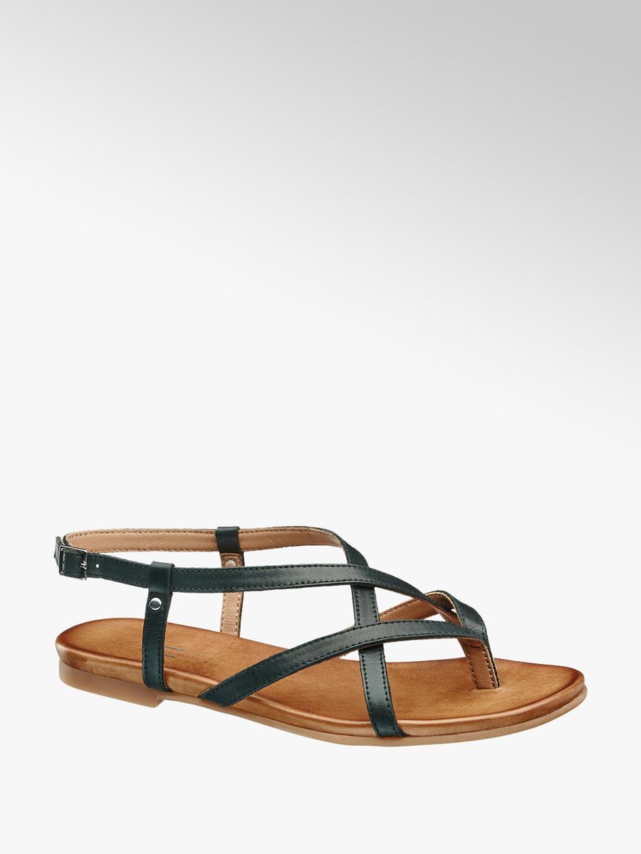 ca9d7daeab5e Kožené sandále značky 5th Avenue vo farbe čierna - deichmann.com
