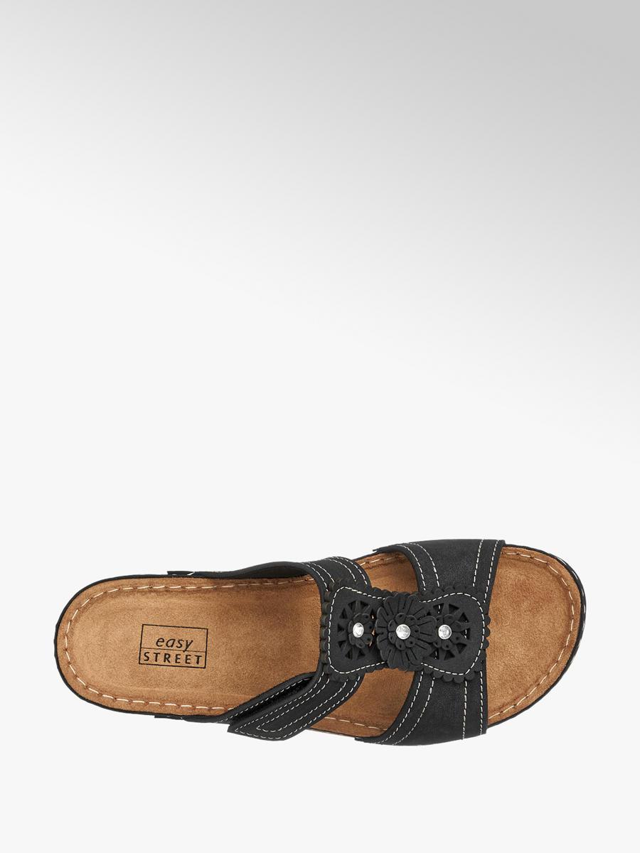 7e079153c9a9b Komfortné dámske šľapky značky Easy Street vo farbe čierna ...