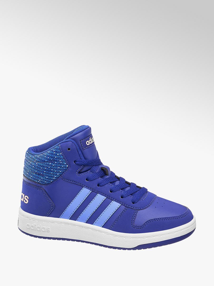 Kotníkové tenisky Hoops Mid 2.0 značky adidas v barvě modrá ... ce9892db44