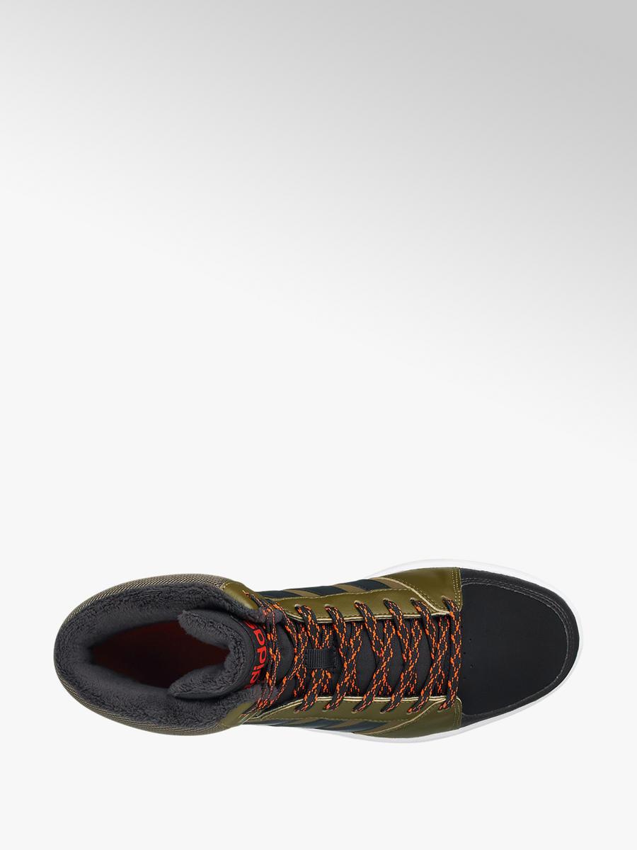 Kotníkové tenisky Vs Hoops Mid značky adidas v barvě olivová ... 9390af1e70