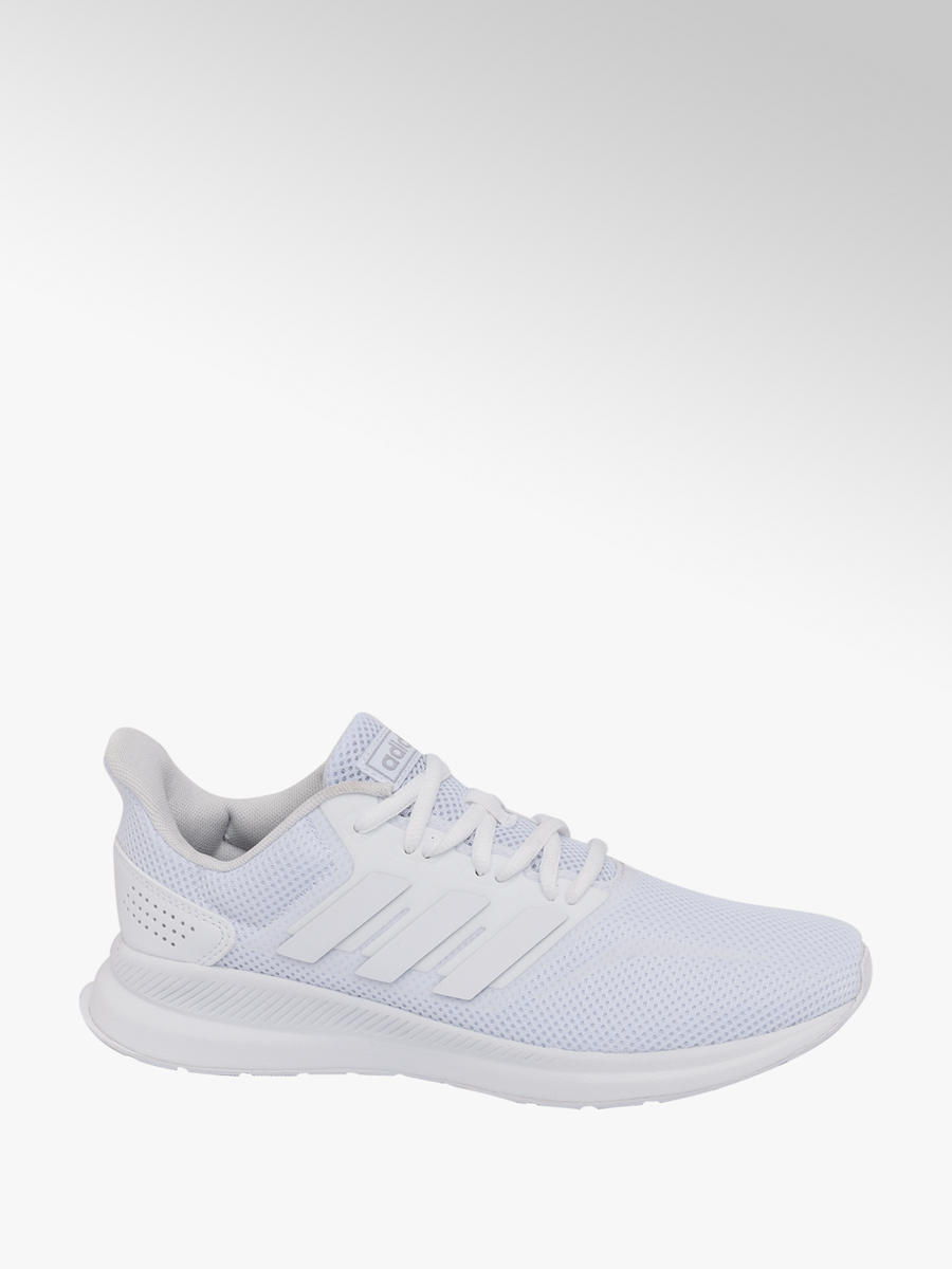 Ladies Adidas White Falcon Lace up Trainers | Deichmann