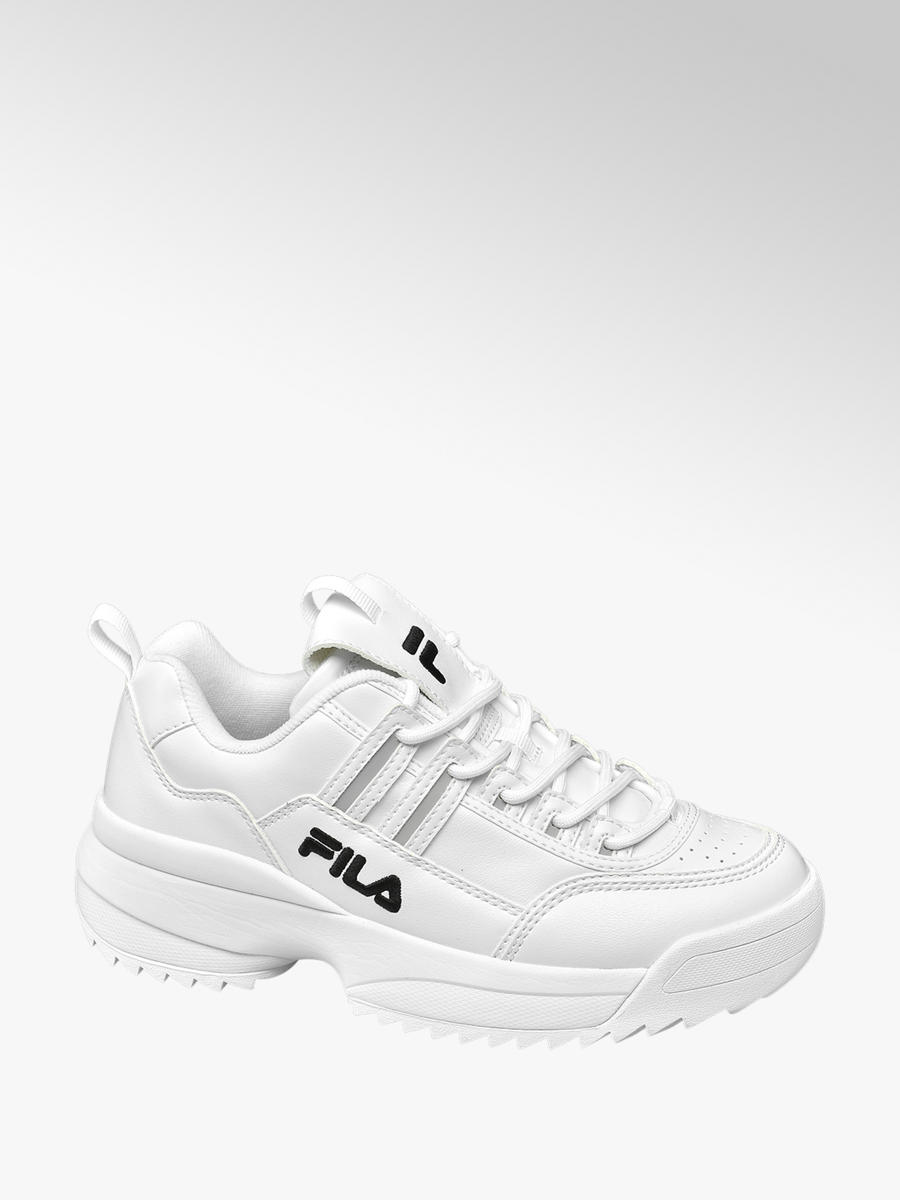 Ladies Fila Chunky Lace-up Trainers White | Deichmann
