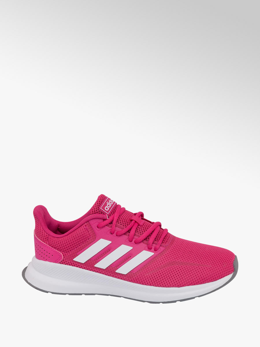 3156a1399b01 Ladies Adidas Pink Falcon Lace-up Trainers