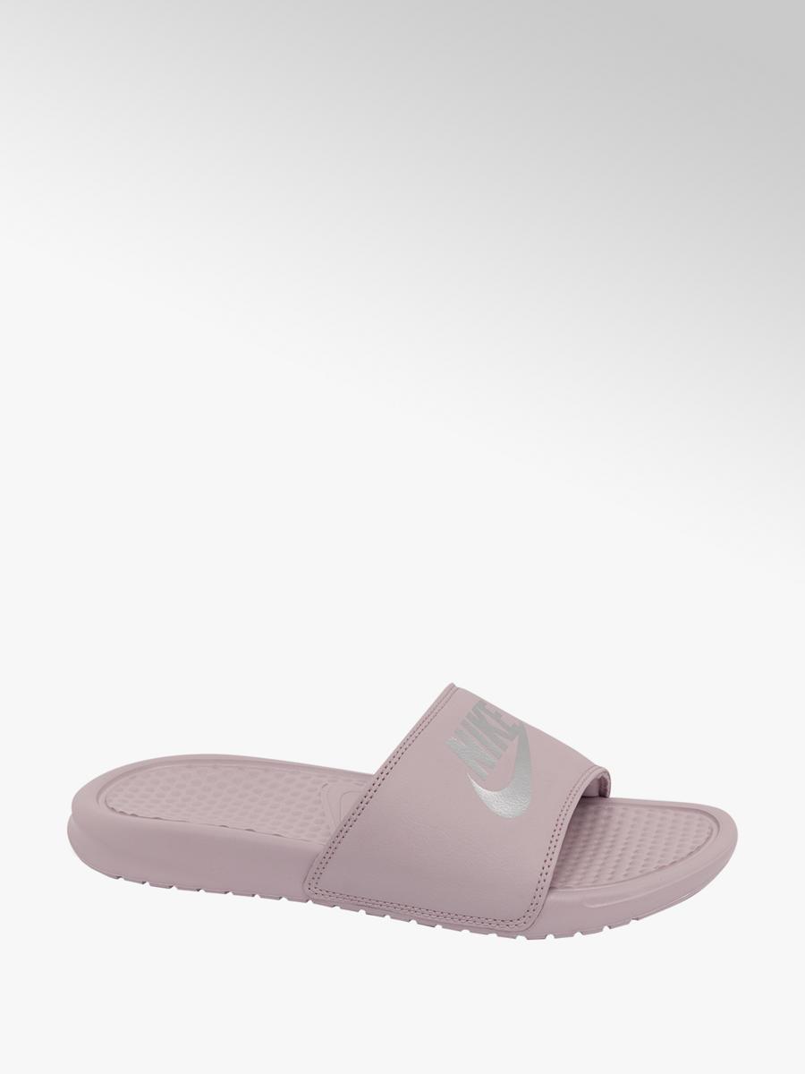 6bfc233d0 NIKE Ladies Pink Nike Benassi Slides