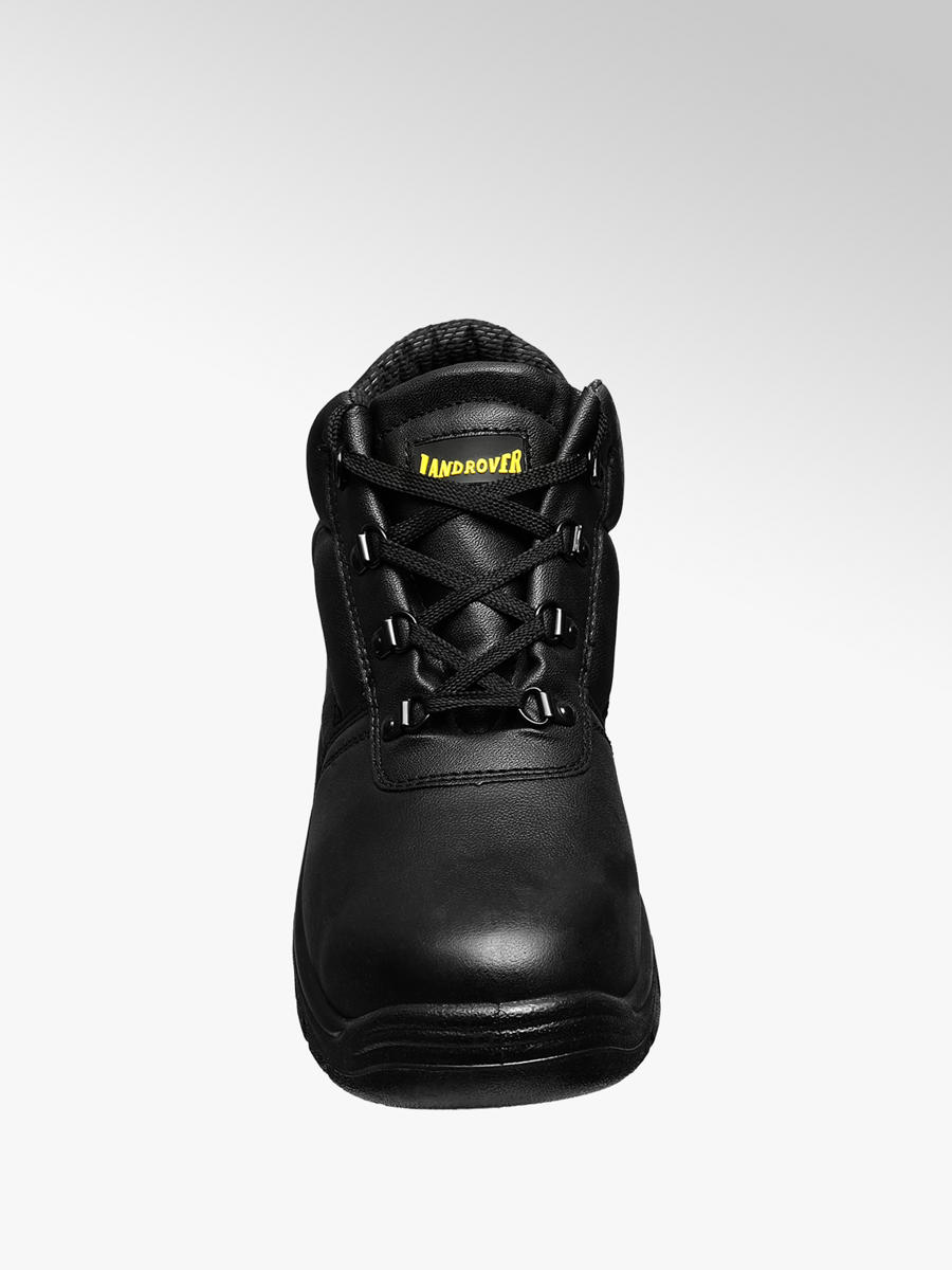 Black Leather Safety Boots | Deichmann