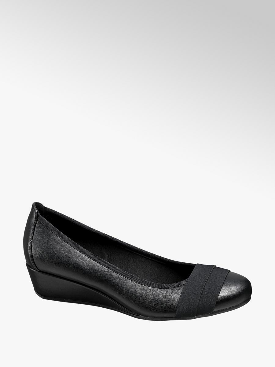 9a6f35eb40db Lodičky na klinovom podpätku značky Graceland vo farbe čierna -  deichmann.com