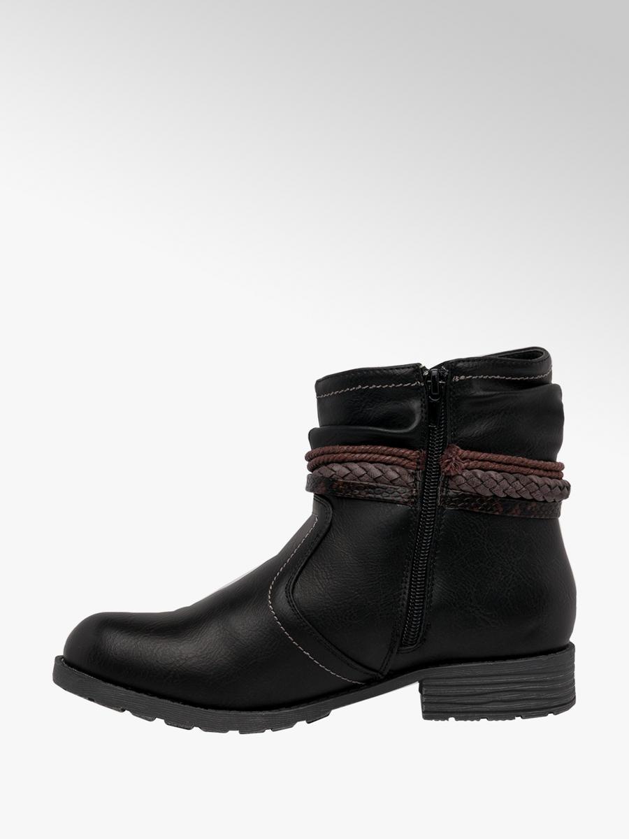 Lotus Ladies Francina Ankle Boots Black