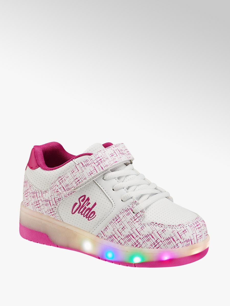 separation shoes 2b1f5 8aaac Mädchen Sneaker Heelys mit LED Funktion in weiß von Slide ...