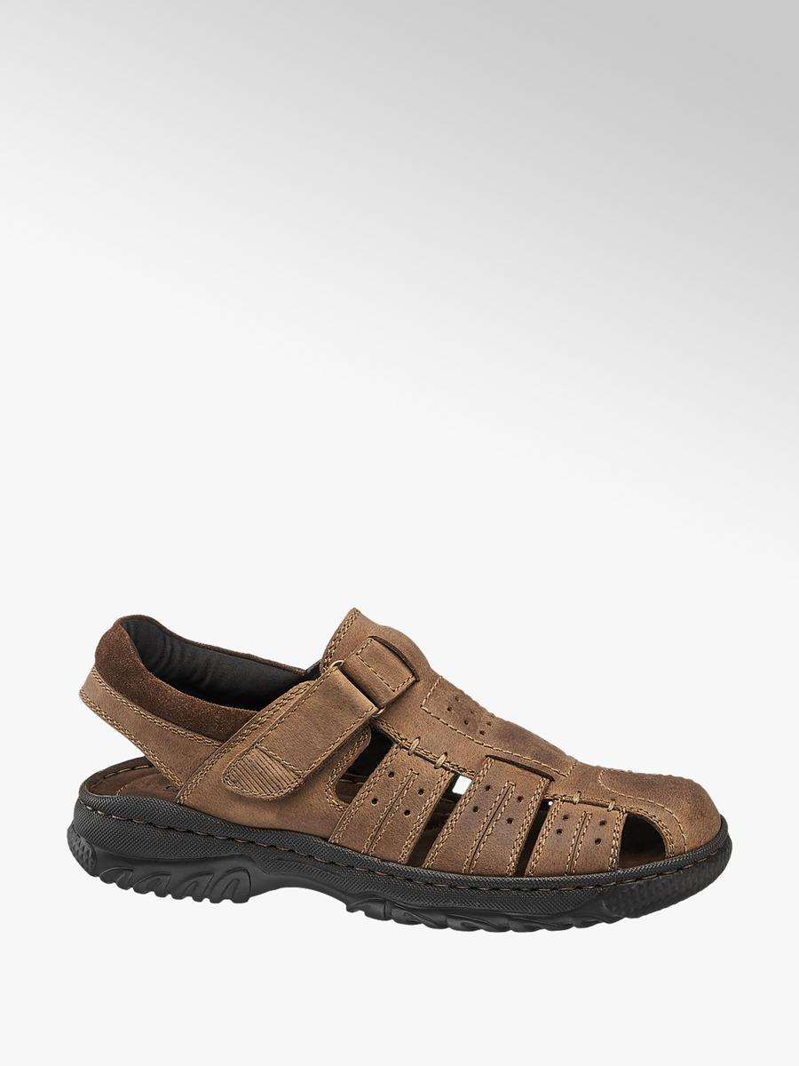 Deichmann Shoes Memphis One men Strap-up Full Sandals brown New