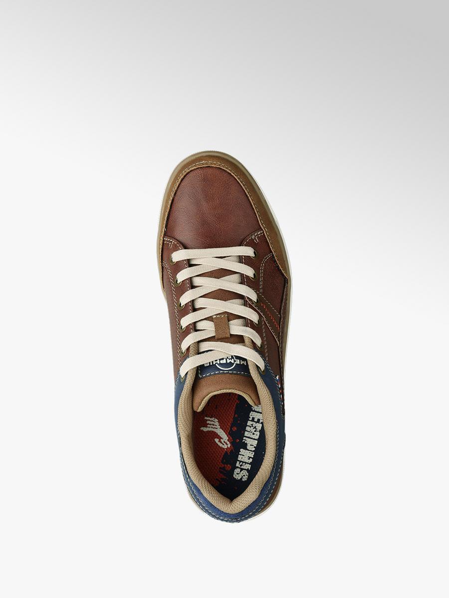 Deichmann Shoes Memphis One men Casual Lace-up Shoes blue New
