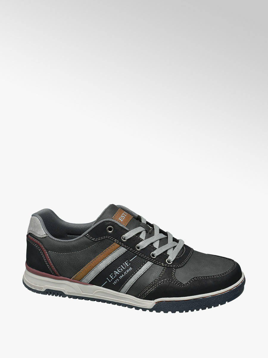 Memphis One Men S Casual Lace Up Shoes In Grey Deichmann