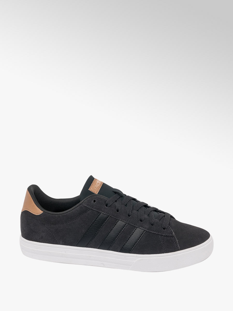 f030a7b4c43155 Men s Adidas Daily Team 2.0 Black Leather Trainers