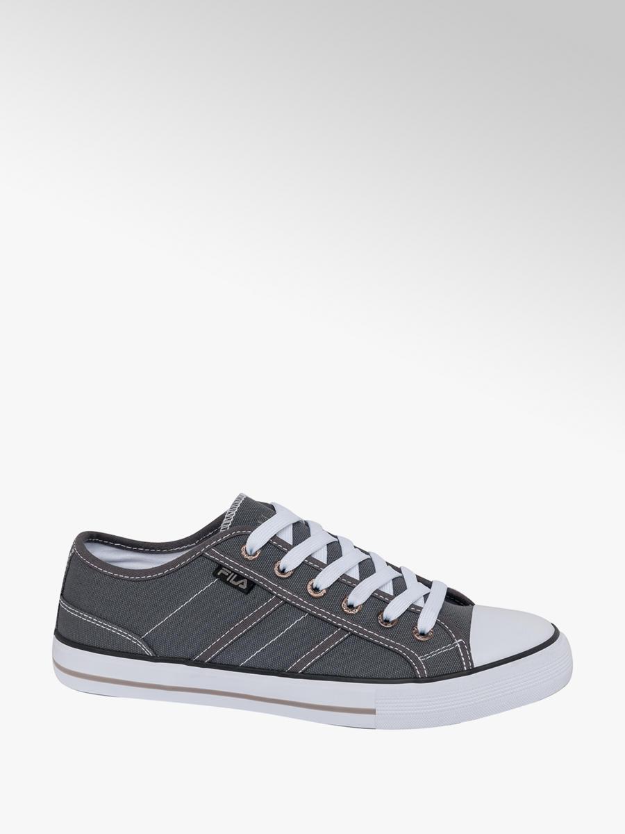Men's Fila Lace-up Canvas Shoes Grey