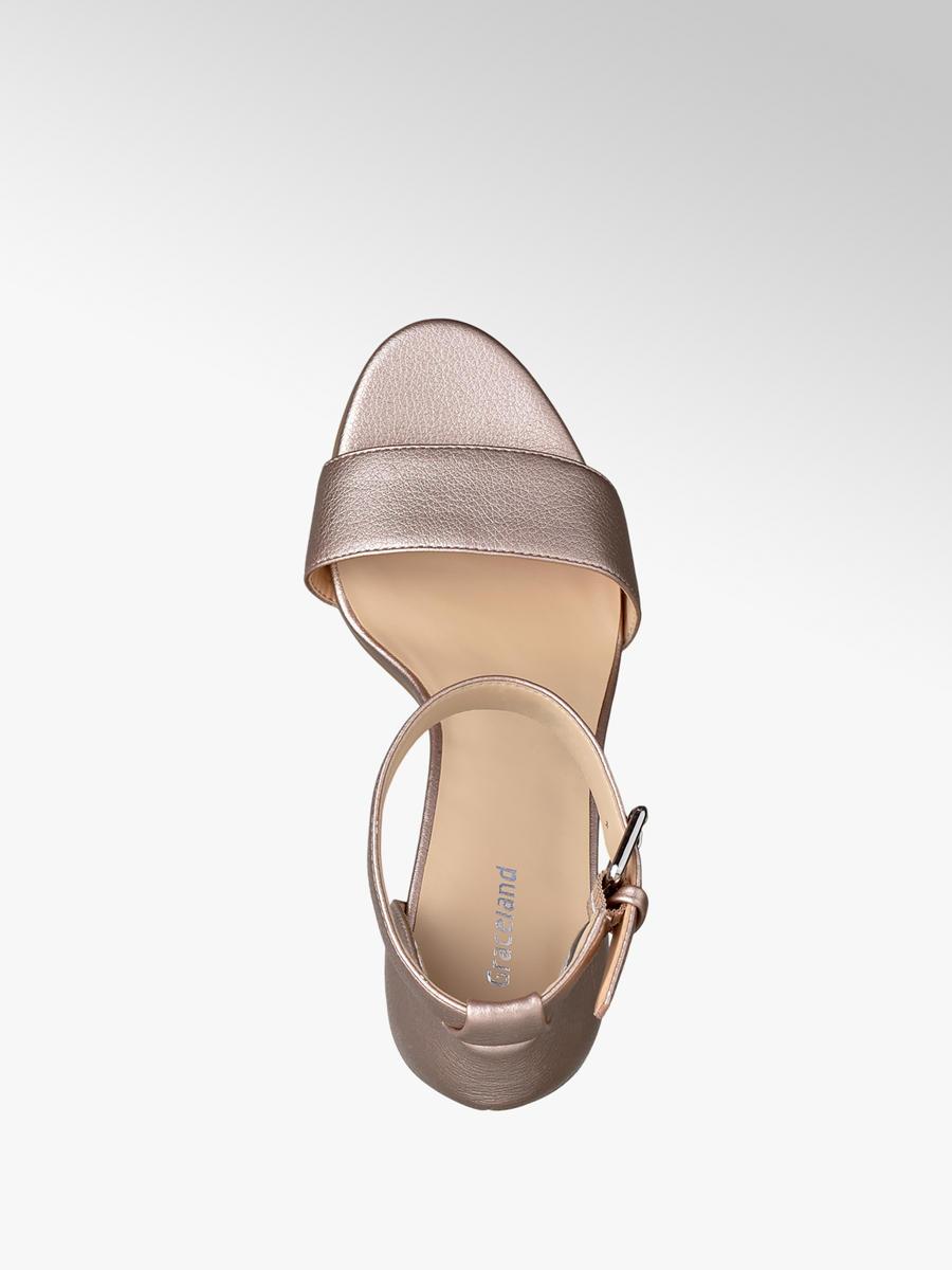 729fe35c01f83 Metalické sandále značky Graceland vo farbe ružová - deichmann.com