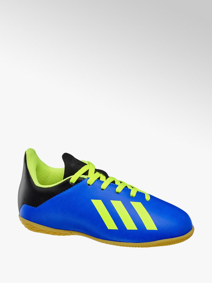 buty na tanie styl mody stabilna jakość Niebieskie halówki dziecięce adidas X Tango 18.4 In J ...