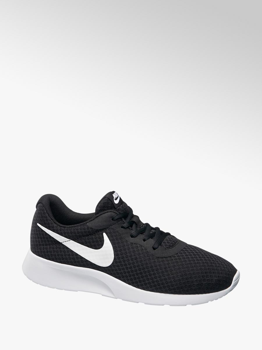 Nike Ladies Tanjun Trainers Black \u0026 White