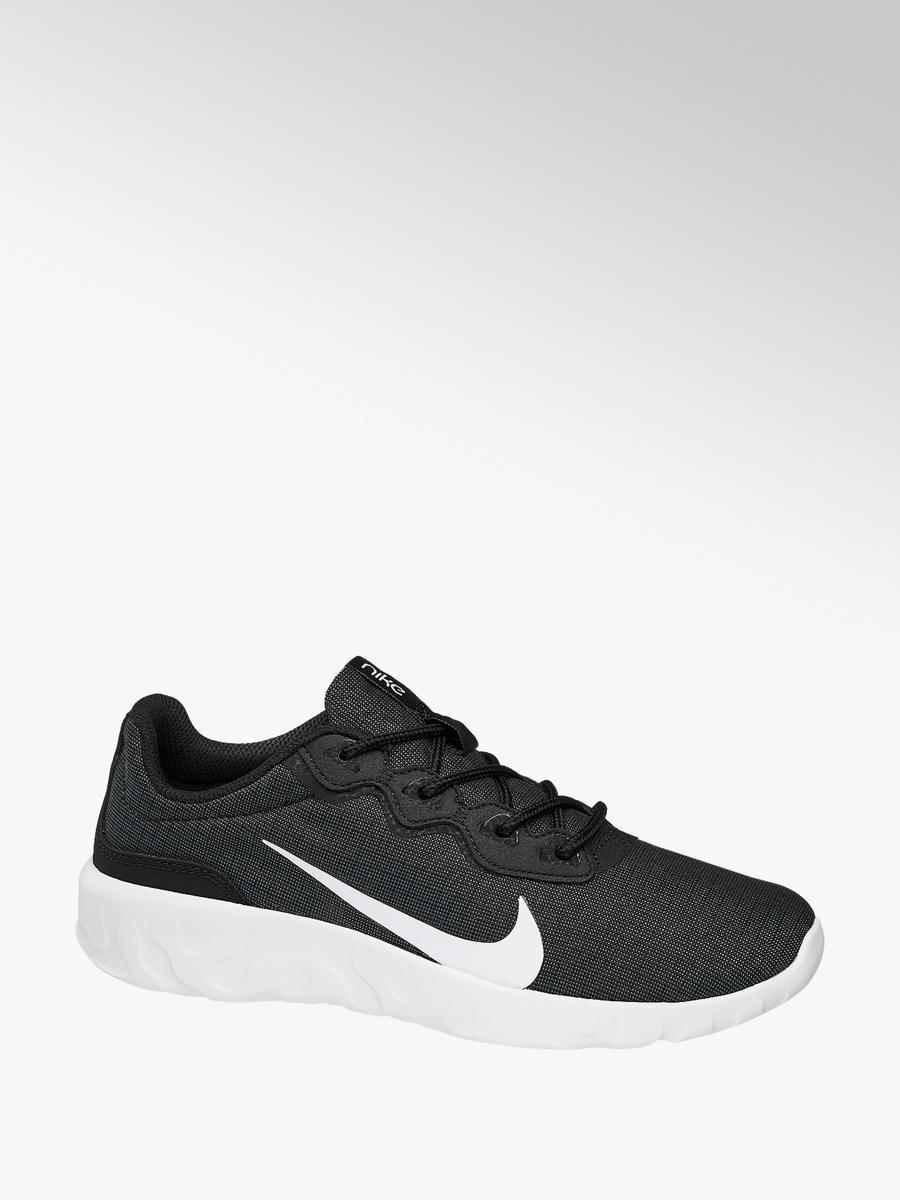 35676e0b0d8e9 Nike Men's Explore Strada Trainers Black and White   Deichmann
