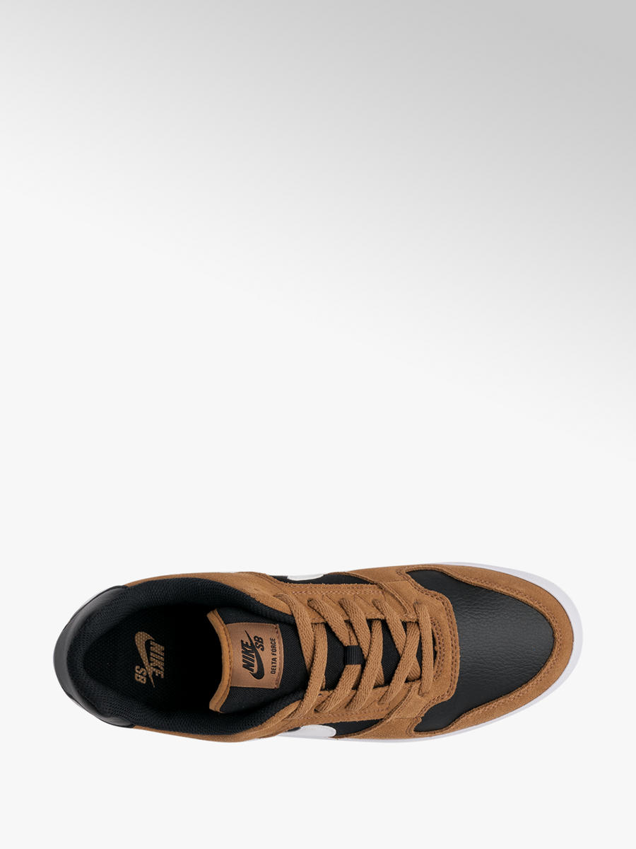 promo codes footwear super specials Nike SB Delta Force Men's Real Leather Suede Golden Beige ...