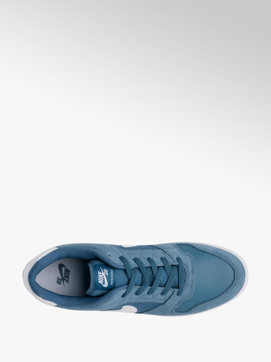 amazon save up to 80% classic Nike SB Delta Force Men's Real Suede Leather Blue Lace-up ...