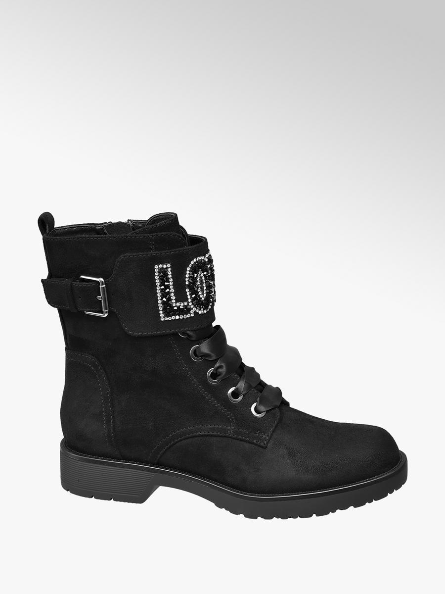 31f04552f7 Nízke čižmy so šnurovaním značky Catwalk vo farbe čierna - deichmann.com