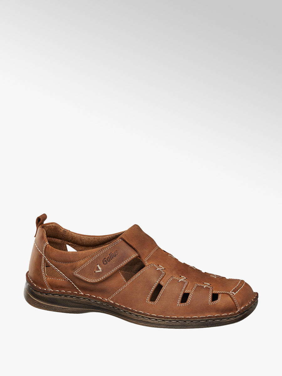 46eccc7323 Pánske kožené sandále značky Gallus vo farbe hnedá - deichmann.com