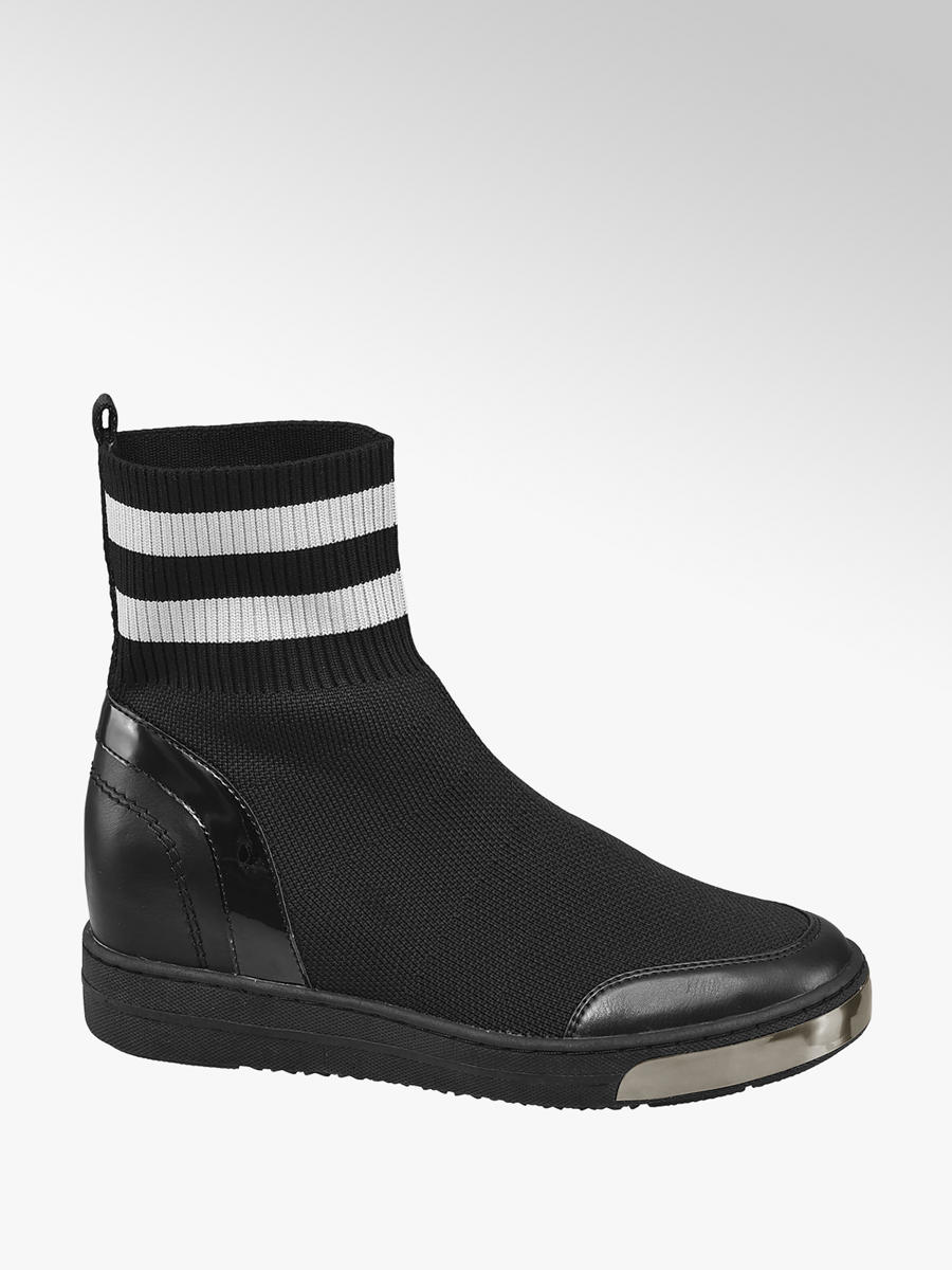 Ponožkové nízke čižmy značky Graceland vo farbe čierna - deichmann.com ba4a152c01e