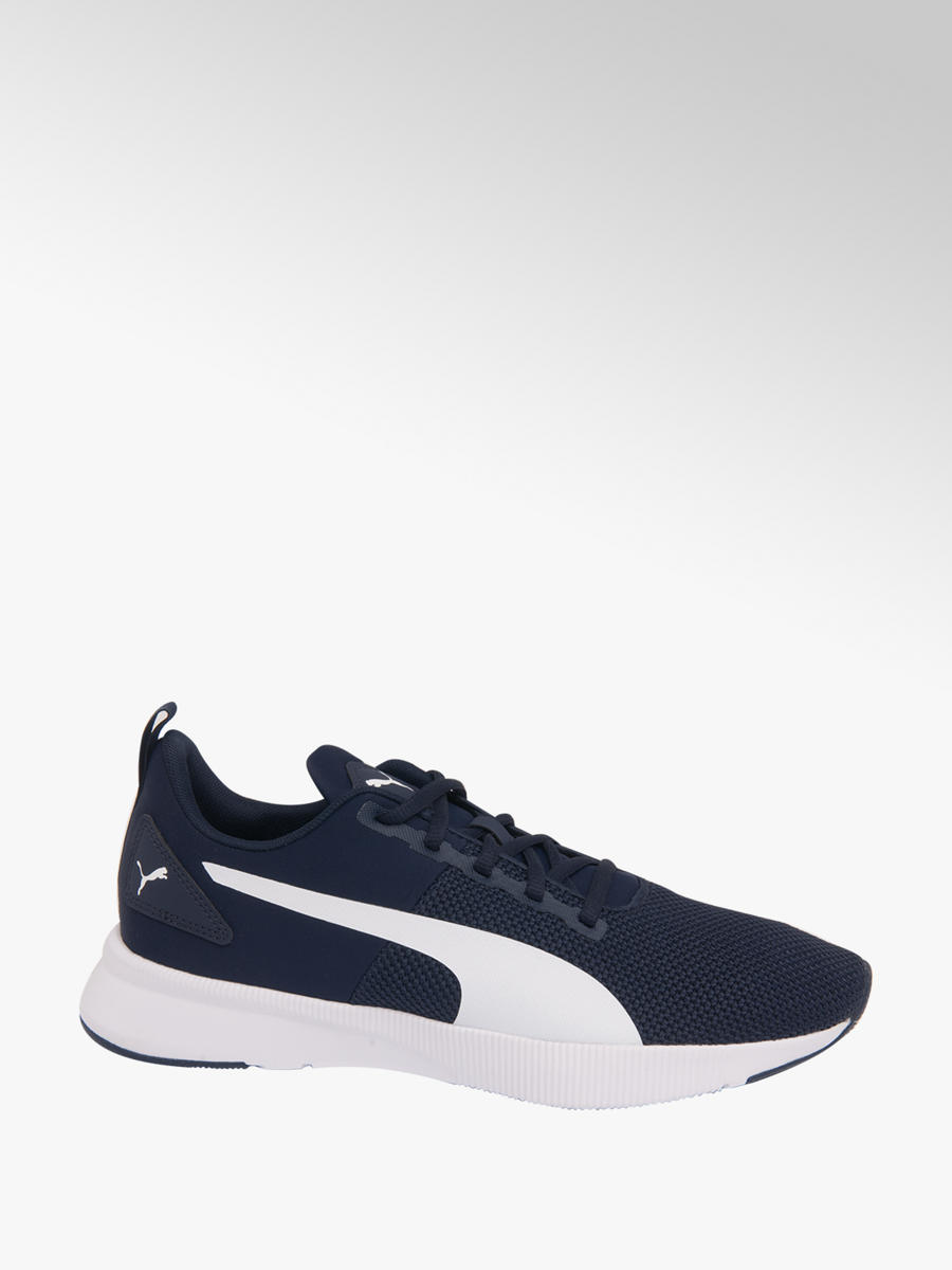 bfcc7ea9e54 Puma Mens Puma Blue  White Flyer Runner Lace-up Trainers