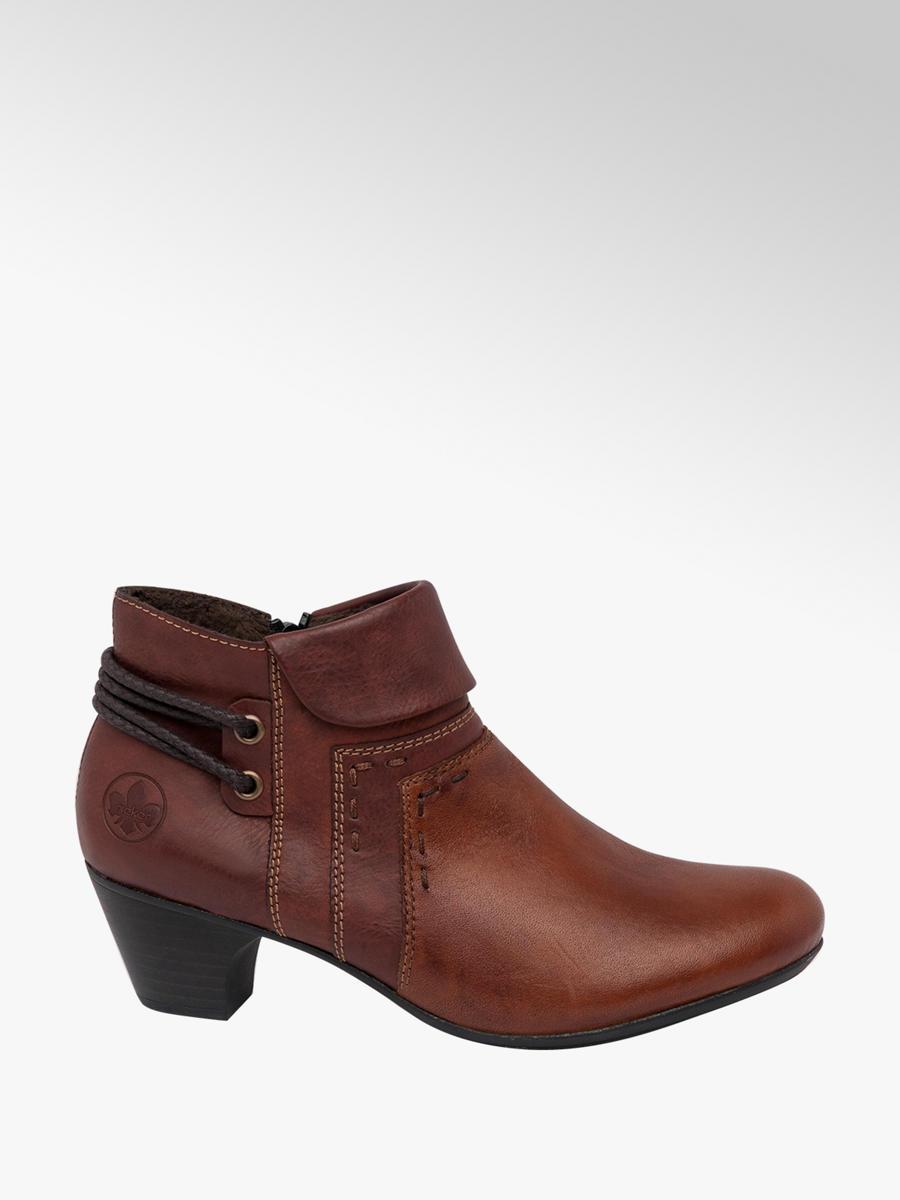 Rieker Ladies Heeled Ankle Boots Brown