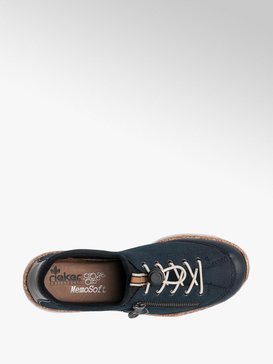 Rieker Ladies Lace-up Comfort Shoe Navy